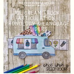 Ice Cream Truck Sliders BUNDLE for Articulation, Phonology & Language Sliders Articulation Activities, Speech Therapy Activities, Interactive Activities, Language Activities, Preschool Activities, Articulation Therapy, Preschool Speech Therapy, Speech And Language, Sliders