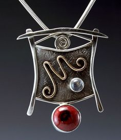 japanese inspired pottery | Asian Inspired Pendant/Pin with Pottery Cabochon in by JLKJewelry, $ ...