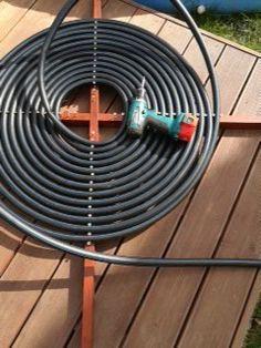 Montáž HDPE hadice na konstrukci vruty 5x50