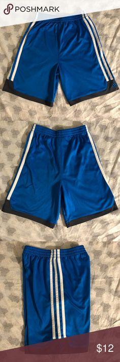 59fad17e7 EUC Adidas Athletic Shorts Boys 7 EUC Adidas Athletic Shorts Boys 7 Blue  with white striped