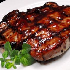 """Grilled Pork Loin Chops I """"Tangy, a little sweet, very moist and very easy to prepare -- you're going to love these grilled chops."""""""