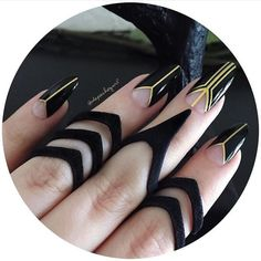great gatsby gold and black nail art bmodish