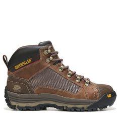 cf519d4a226a76 SHOES · Caterpillar Men's Convex Mid Slip Resistant Steel Toe Work Boots (Dark  Beige Leather) -