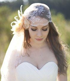 Juliet Cap, Bridal Veil, Cap Veil - Maeve