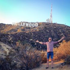 Awesome hike up to the world renowned Hollywood sign in Los Angeles California. You can ride right up to this and then it's just a 10minute hike!