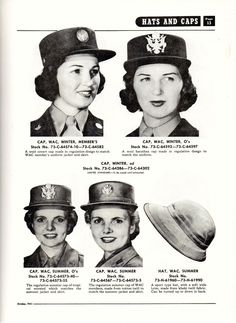 Quartermaster Supply Catalog QM 3-2 - 1943: Herbert Hillary Booker 2nd of Tujunga, California presents a 1943 issue of an Army Quartermaster Catalogue showing clothing and equipment for women in the Army of the United States ~