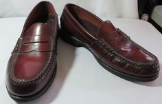 """ROCKPORT"" MEN'S BROWN LEATHER LOAFER SHOES SIZE 9 - PLEASE SEE ALL PICTURES #Rockport #LoafersSlipOns"