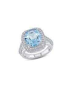 Look at this #zulilyfind! Blue Topaz & White Simulated Sapphire Ring #zulilyfinds