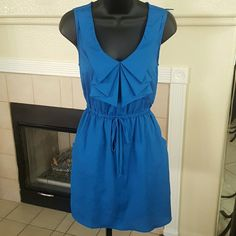 BeBop Spring/Summer Royal Blue Dress Size Med. ADORABLE, BeBop Spring/Summer Royal Blue Dress Size Med. Pockets Draw String Waisr, 2 real pockets and lined skirt (no slip required). BeBop Dresses Midi