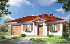 Projekt Urwis 2 to parterowy dom dla czteroosobowej rodziny, przekryty czterospadowym dachem. Zbudowany został na planie prostokąta, z dobudowanym garażem. Dom przeznaczony jest do realizacji na wąskiej działce. Dzięki wejściu do budynku od węższej strony, dom wraz z garażem zmieści się na dziewiętnastometrowej działce.