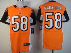 Nike Cincinnati Bengals #58 Rey Maualuga Orange Elite Jersey