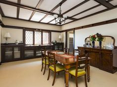 Tudor formal dining Tudor, Dream Homes, Dining, Bedroom, Formal, Table, House, Furniture, Home Decor