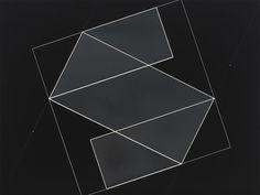 Josef Albers - Structural Constellation, ca. 1950, machine engraving on black laminated plastic, 43.2 × 57.2 cm
