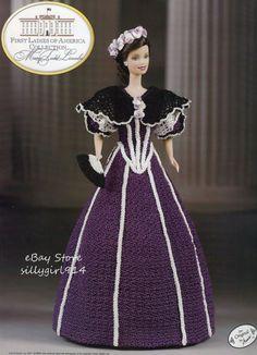"""LINCOLN""~Crochet PATTERN fits BARBIE FASHION DOLL~Annie's FIRST LADIES"