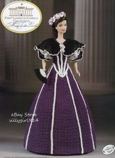 """LINCOLN""~Crochet PATTERN fits BARBIE FASHION DOLL~Annie's FIRST LADIES"