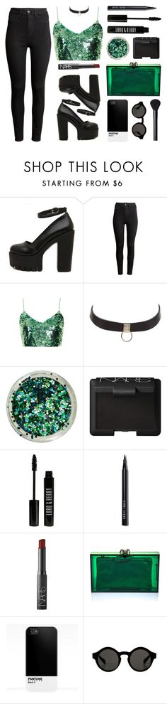 """""""Mermaid"""" by baludna on Polyvore featuring H&M, Topshop, Charlotte Russe, NARS Cosmetics, Lord & Berry, Bobbi Brown Cosmetics and Charlotte Olympia"""
