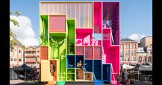 MVRDV Designs Multicolored Tetris Hotel for Dutch Design Week 2017
