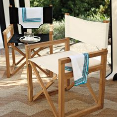 Directors Chair U2013 Ivory | Serena U0026amp; Lily // For Outside Patio Outdoor  Dining
