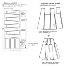 How to make a kilt / pleated skirt. Striped Skirt With Box Pleats - Step 1