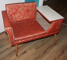 50's Telephone Gossip Chair Atomic Retro Red