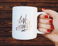 Live Creatively! Mug from Lindsey Letters Shop
