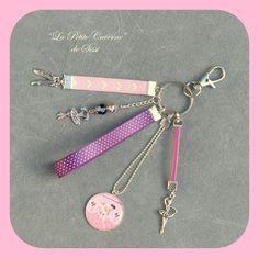 Ce joli porte-clés est composé de:  - 1 fermoir argenté 30 mm - 1 anneau argenté 25 mm - 1 pendentif cabochon rond en résine et métal argenté 25mm «petite     danseuse - 16247760