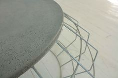Fragment Coffee Table with Concrete Resin Top by IndigiDesigns