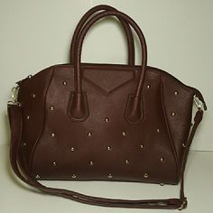 Bag Burgudy bag with gold studs. Never used, no tag. Bags