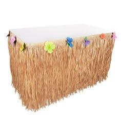 Disney Moana Grass Table Skirt Birthday Party Supply Natural Design Decoration
