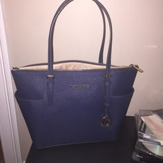Blue Michael Kors Leather Purse NWT, never used, no offers firm price, selling for more online Michael Kors Bags Shoulder Bags