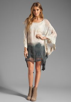 GYPSY 05 Amy Square Mini Dress in Cement at Revolve Clothing - Free Shipping!