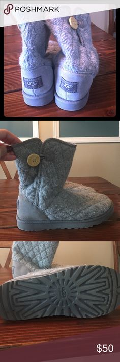 Ugg sweater boots Seldom worn sweater boots. I already have multiple pairs of Uggs. Great condition! Shoes Winter & Rain Boots