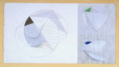 Barbara Hepworth - Drawing for 'Sculpture with Colour' (Forms with Colour) 1941