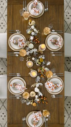 Make your Thanksgiving table arrangement look as good as the food you serve with our guide on How to Set a Table for Thanksgiving. Well show our favorite tips and ideas for creating a table arrangement that is chic and festive. Rustic Thanksgiving, Thanksgiving Place Cards, Thanksgiving Table Settings, Christmas Table Settings, Thanksgiving Decorations, Fall Table Settings, Dinner Table Centerpieces, Table Arrangements, Table Decorations