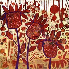 Michèle Brown Artist - The Old Cells Studio: Flowery