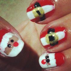 Santa Nail Art ! Christmas Nails