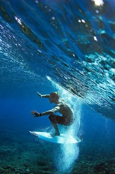 Surfing the waves. Underwater!  Via Tumblr  #surf #surfing #ocean #holidays #landscape