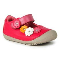 Momo Baby Toddler Mary Jane Leather Shoes - Flower Power Pink (Size 4 - 6.5)