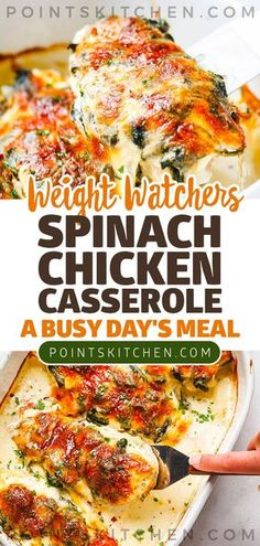 Pasta dishes with spinach chicken 23 ideas for 2019 Weight Watcher Dinners, Weight Watchers Chicken, Ww Recipes, Cooking Recipes, Healthy Recipes, Radish Recipes, Cooking Cake, Family Recipes, Crockpot Recipes