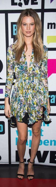 Behati Prinsloo: Dress – Balenciaga  Shoes – Manolo Blahnik