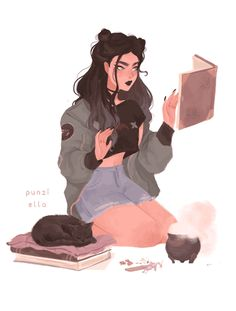 magic, punziella, and witch image Cartoon Kunst, Anime Kunst, Cartoon Art, Anime Art, Pretty Art, Cute Art, Character Inspiration, Character Art, Character Design Teen