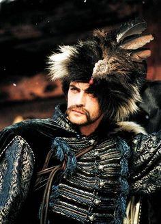 "Alexander Domogarov as Bohun from polish mini-series ""ogniem i mieczem"" (by fire and sword). polish/ukrainian 17th century costume"
