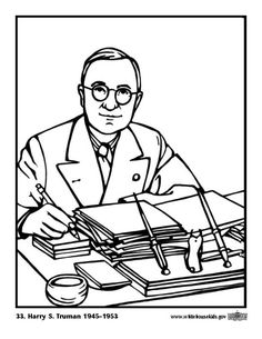 Coloring Page 33 Harry S Truman