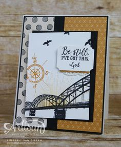 See how easy it is to mix it up with Stampin' Up products. The manly card was quick and easy to create using the Urban Underground Designer Series Paper.