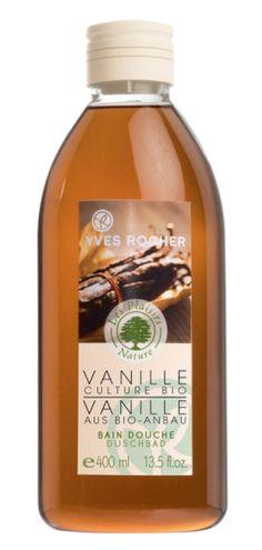 Yves Rocher Organic Vanilla Shower Gel. Bain Douche Vanille agriculture bio.