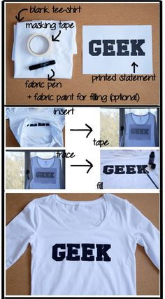 DIY Technique: How to write on a tee-shirt