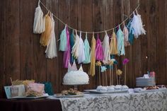Fancy up any old dessert table with a tassel garland - we love this one from @paperfoxla!