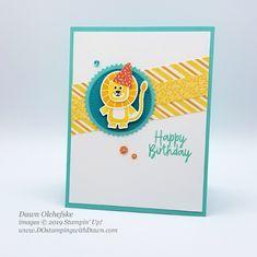 Stampin' Up! Birthday Bonanza Suite card by Dawn Olchefske for Stamping with the STARS Inspiration Hop Handmade Soaps, Handmade Headbands, Handmade Rugs, Handmade Crafts, Birthday Desert, Kids Cards, Fun Cards, Kids Birthday Cards, Animal Cards