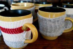 Use old socks to create fun Coffee mug cozzies :D