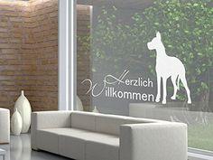 Glasdekor Fensterfolie Aufkleber Sichtschutz Wohnzimmer Willkommen Hund (Größe=76x40cm) Graz Design http://www.amazon.de/dp/B00GZMW77Q/ref=cm_sw_r_pi_dp_rxlgub0N3CJ54